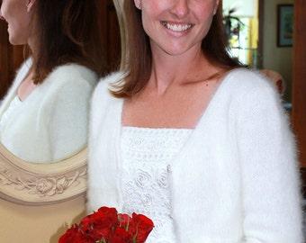PATTERN -  Kate Middleton Royal Angora Wedding Shrug/Bolero Knitting Pattern In Seven Sizes