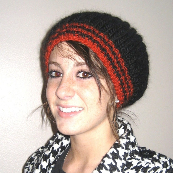 Knit Hat Patterns Not In The Round : Items similar to KNITTING PATTERN - Brioche Stitch Hat Not Knitted In The Rou...