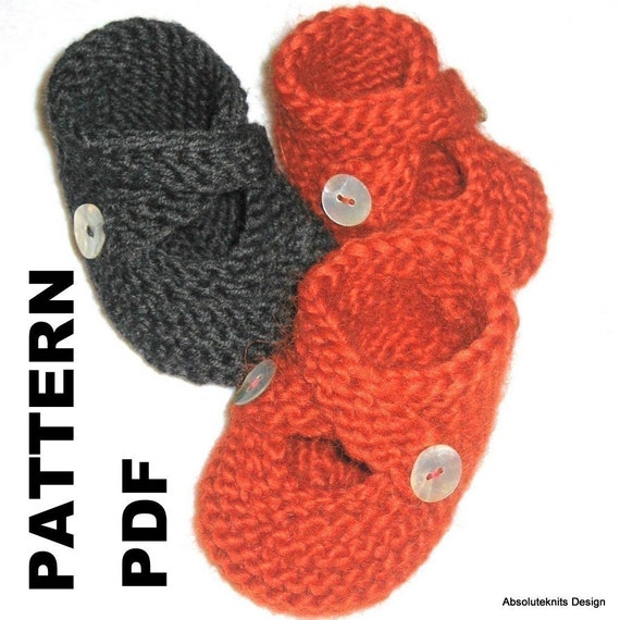 Very Easy Knitting Patterns For Babies : Items similar to PATTERN - Toasties Baby Booties Very Easy Three Sizes on Etsy