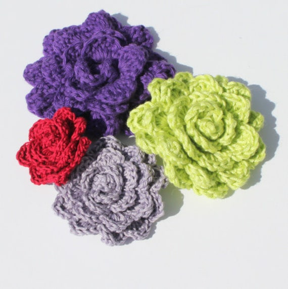 Items similar to CROCHET PATTERN - Crochet Flower Photo ...