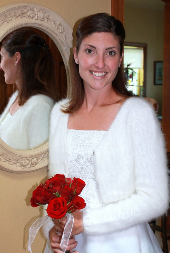 PATTERN -  Kate Middleton Royal Angora Wedding Shrug/Bolero Knitting Pattern In Seven Sizes