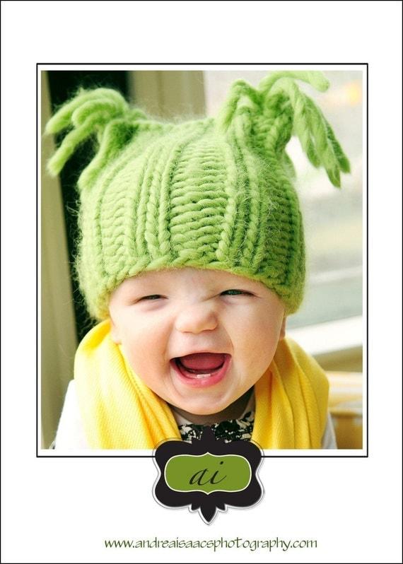 GREEN APPLE BABY HAT KNITTING PATTERN SIZE