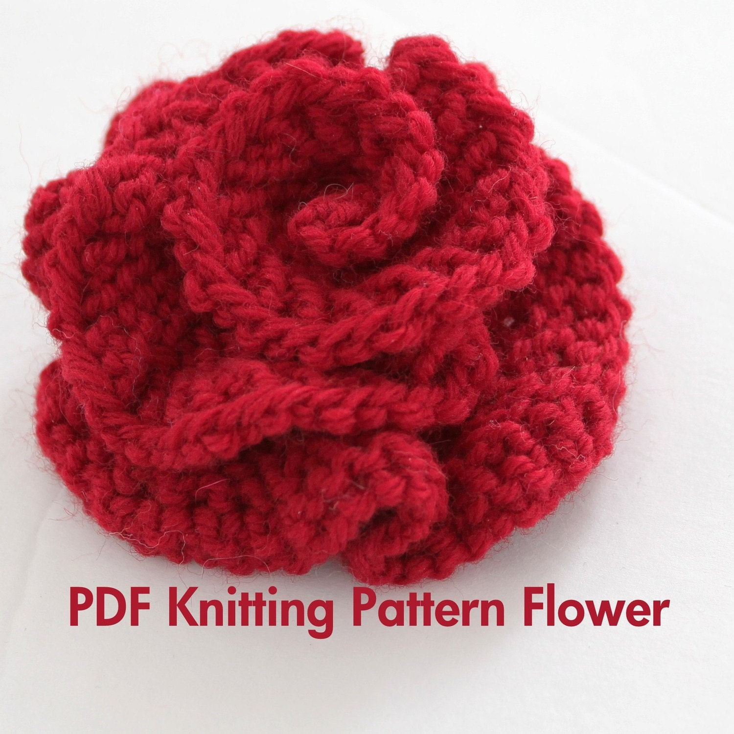 Easy Knitting Patterns Instructions : Pattern knitted flower pdf very easy photo tutorial