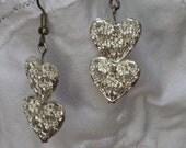 SALE  Flowered Heart Earrings