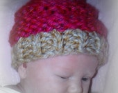 Knit Cupcake Cocoon and Hat - Pattern