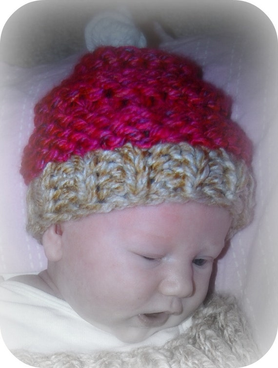 Knitted Cupcake Hat Pattern : Knit Cupcake Cocoon and Hat Pattern by DancingTurtle on Etsy