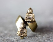 Buddha Ring Gold, Adjustable Buddha Ring, Twist Buddha Ring, Vintage Buddha Ring, Yoga Ring, Spiritual Ring