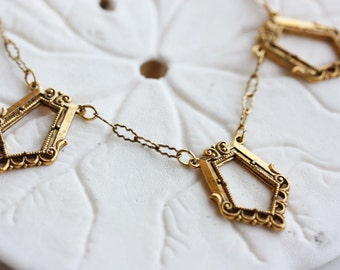 Sample Sale - Vintage Rectangles Necklace