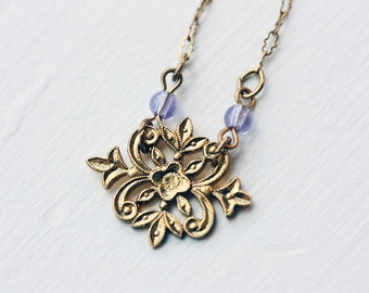 Sample Sale - Filigree Flower Necklace