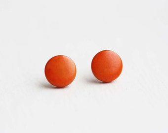 Sample Sale - Tangerine Dot Studs