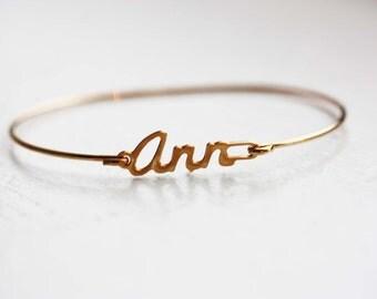 Ann Name Bracelet, Name Bracelet, Cursive Name Bracelet, Ann, Ann Name