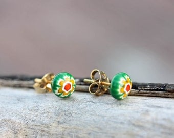 Green and Yellow Ball Studs