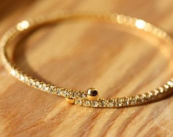 Delicate Crystal Bracelet - Gold, Silver, Rose