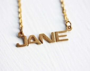 Vintage Name Necklace - Jane