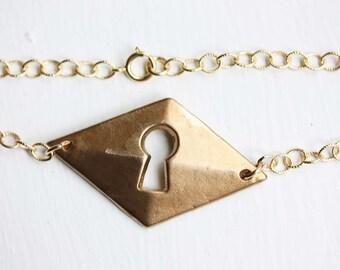 Brass Keyhole Bracelet