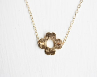 Gold Clover Necklace, Clover Necklace, Gold Filled Necklace, Gold Charm Necklace