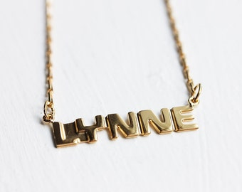 Vintage Name Necklace - Lynne