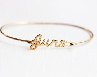 Vintage Name Bracelet - June