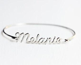 Melanie Name Bracelet, Name Bracelet, Melanie Bracelet