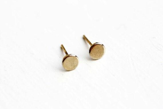 Tiny Gold Fill Dot Earrings - 14K Gold Fill