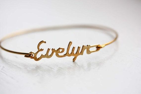 Vintage Name Bracelet Evelyn
