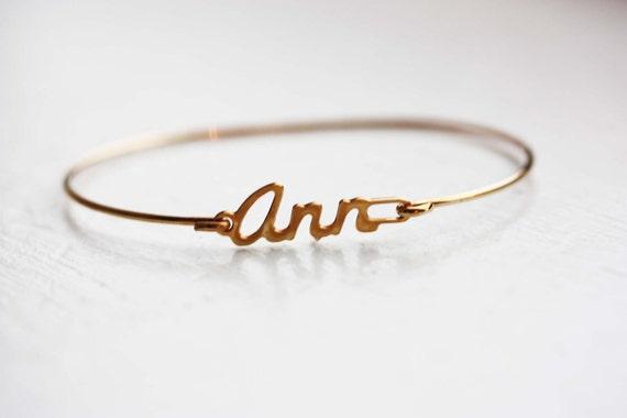 Vintage Name Bracelet - Ann