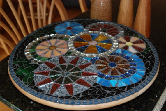 Stained Glass Mosaic Lazy Susan