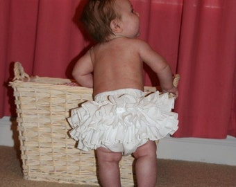 Sassy Fancy Ruffle Panty Bloomer Diaper Cover  Handmade