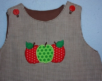 Let's fall into fall with this cute A -Line apple dress  with pantaloons or bloomers up to size 3  Special price