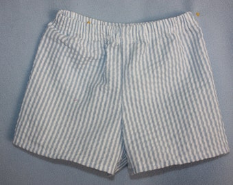 Baby Boy Boxers  Just like Dad   Blue and White Stripe