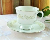 Sango China Cup and Saucer  - Debutante Pattern 3688