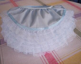 Light Blue Soft Ruffled Diaper Cover (Size medium  15 - 20 lbs) FREE USA SHIPPING