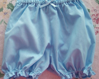 Little Cotton Bloomers   Sky Blue  Size 3T FREE USA SHIPPING