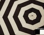 Black and White Striped Upcycled Umbrella Dog Rain Coat