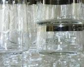 Vintage Crystal Silver Rimmed Mad Men Monogrammed C 31 Piece Set on Etsy