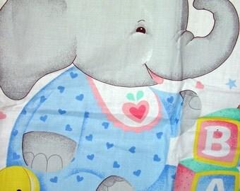Elephant and Bear Nursery Decor Fabric Panel by VIP Cranston