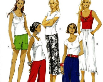 Butterick 5044 UNCUT Misses Cropped Pants, Pants  and Shorts Sewing Pattern  Size SM- Med