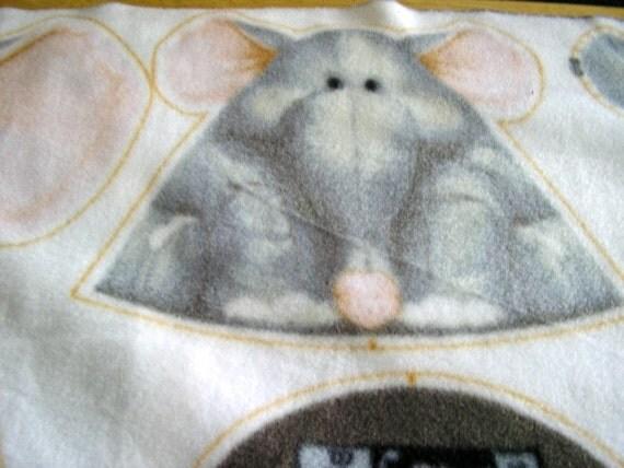 Patty Reed Jungle Baby Stuffed Animal Fleece Fabric Panel