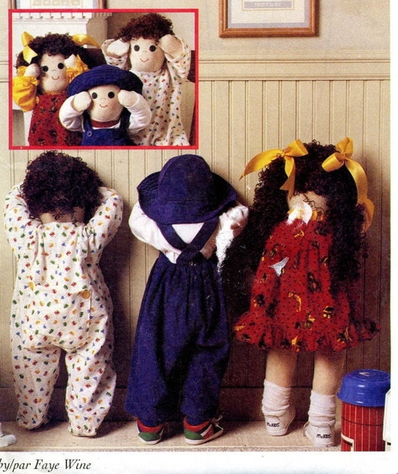 Mccalls 9605 Uncut Time Out Doll Craft Pattern