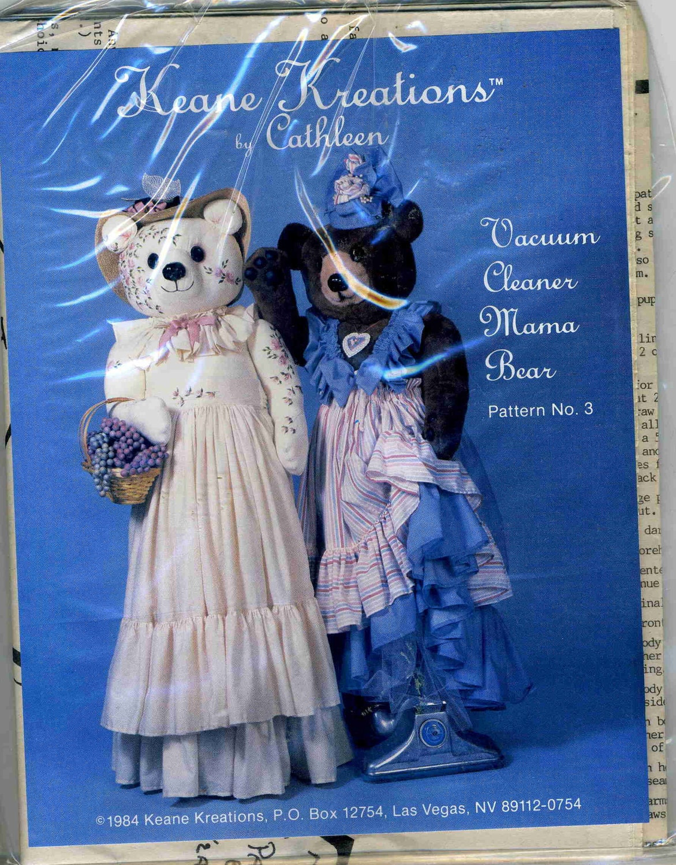 Vintage Vacuum Cleaner Cover Mama Bear Uncut Craft Pattern