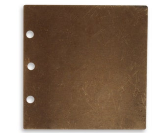 5 pieces 29mm Journal Page Natural brass altered blank by Vintaj Item P0054