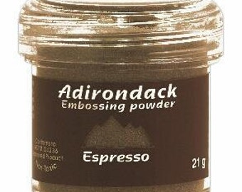Espresso Embossing Powder, Adirondack Embossing Powder by Ranger, 1 oz Jar