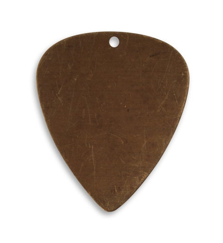 4 Pieces 31x265mm Guitar Pick Blank Vintaj Natural Brass P0057 Jewelry Blanks