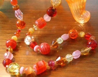 CLEARANCE SALE!!  Sunset Beaded Necklace