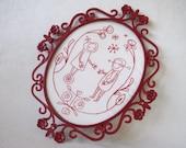 Embroidery Pattern: Binary Folk