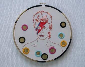 Embroidery Pattern: David Bowie