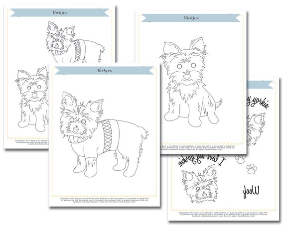 Embroidery Pattern: Yorkies/Yorshire Terriers