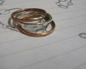 "Copper or Sterling Silver Stacking Rings - ""3 Stackers"""