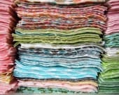 """Baby Toddler Child Teen Adult Large Designer Flannel Customized Grab Bag - 165 Flannel 5"""" Quilt Squares - Prewashed and Ready to Go"""