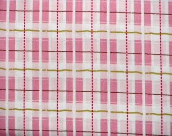 Sale, Pink, Plaid Fabric, Wholesale, Baby, Toddler, Girl, Nursery Rhymes, Camelot Cottons, Suling Wang, 1 yard, FREE SHIPPING to US
